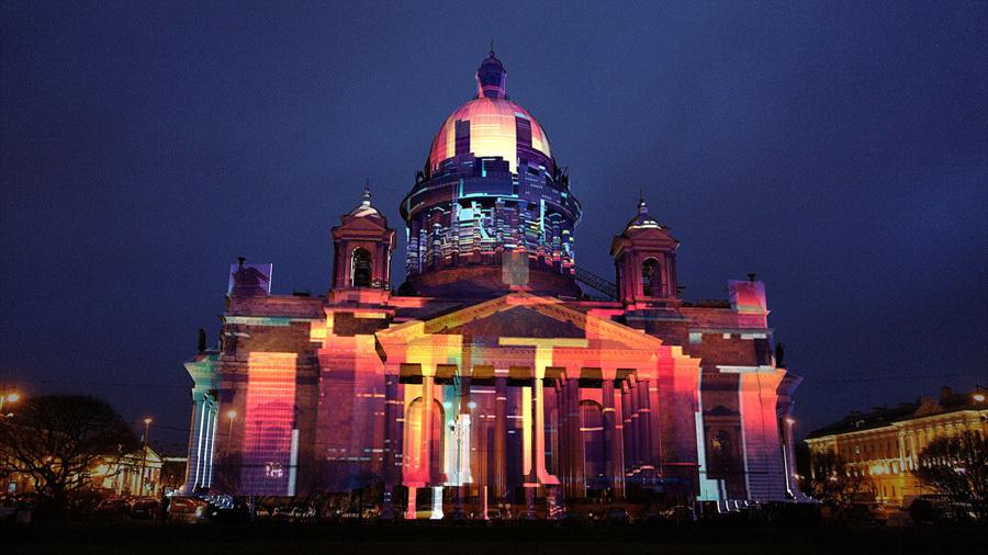 Фестиваль света наИсаакиевской площади пройдет на текущей неделе